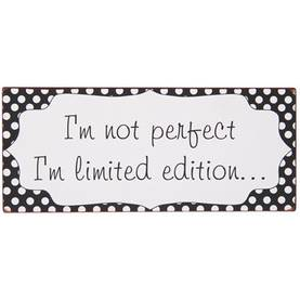 "IbLaursen Metallikyltti "" I'm not perfect I'm limited edition.."" - Taulut ja kyltit - 5709898277765 - 1"