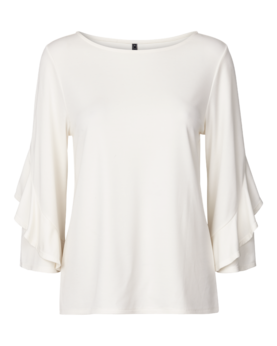 Freequent Pisa Blouse 3/4 Sleeve - Trikoopaidat - 118036OFFWHITE - 1