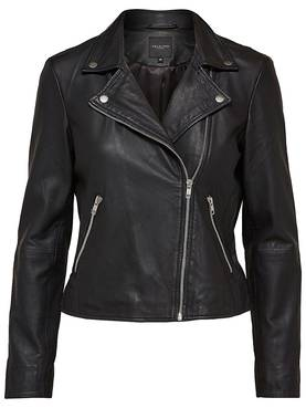 Selected Femme Marlen Leather Jacket - Nahkatakit - 16055757BLACK