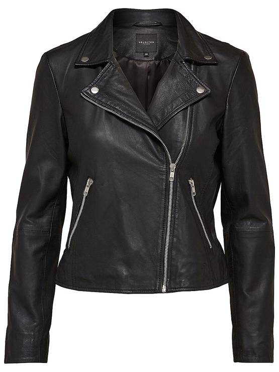 Selected Femme Marlen Leather Jacket - Nahkatakit - 16055757BLACK - 1